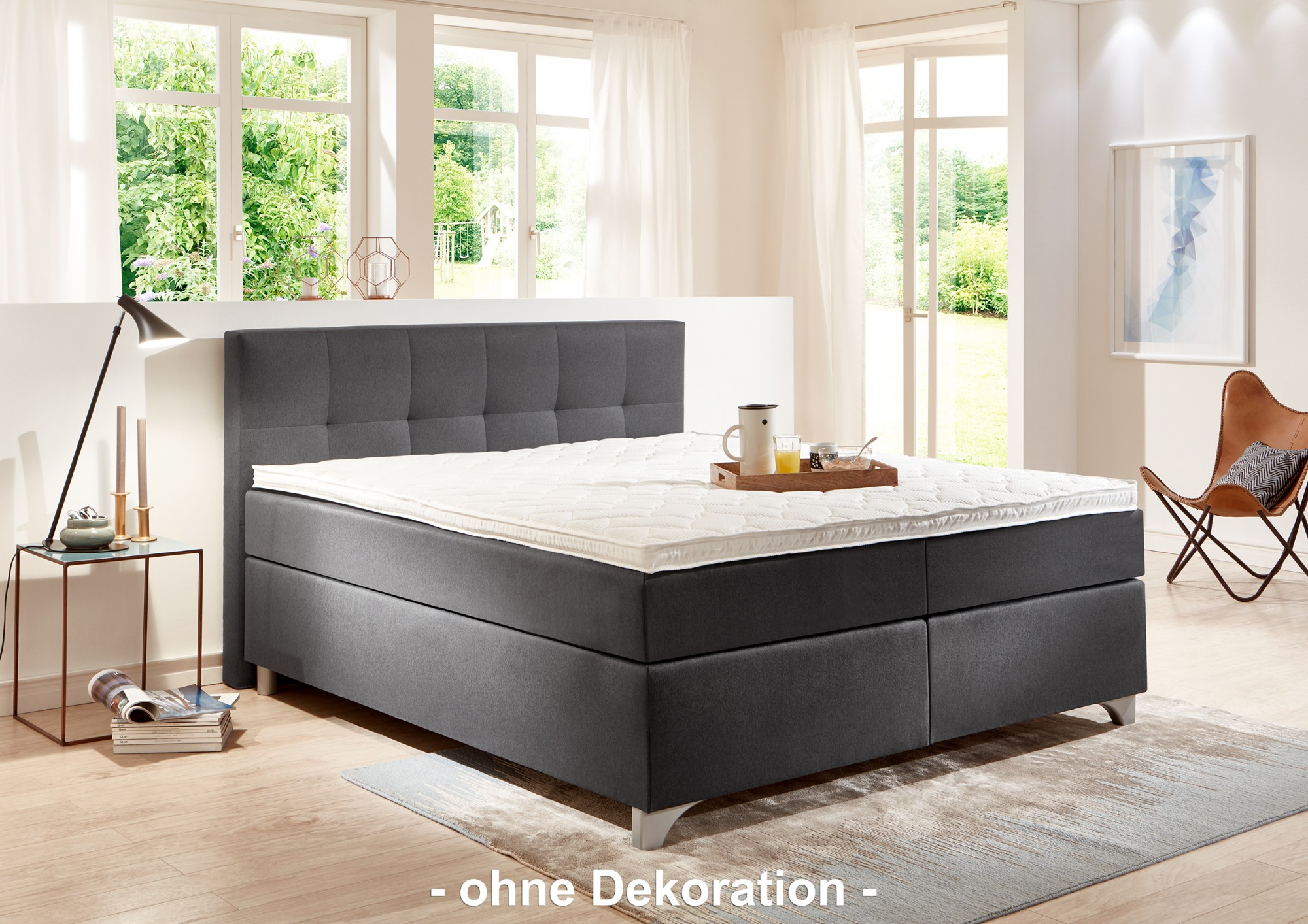 breckle boxspringbett arga best 140x210 cm inkl gel topper. Black Bedroom Furniture Sets. Home Design Ideas